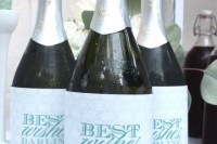 marked and personalized wine or sparkly wine bottles is a good idea for any bridal shower