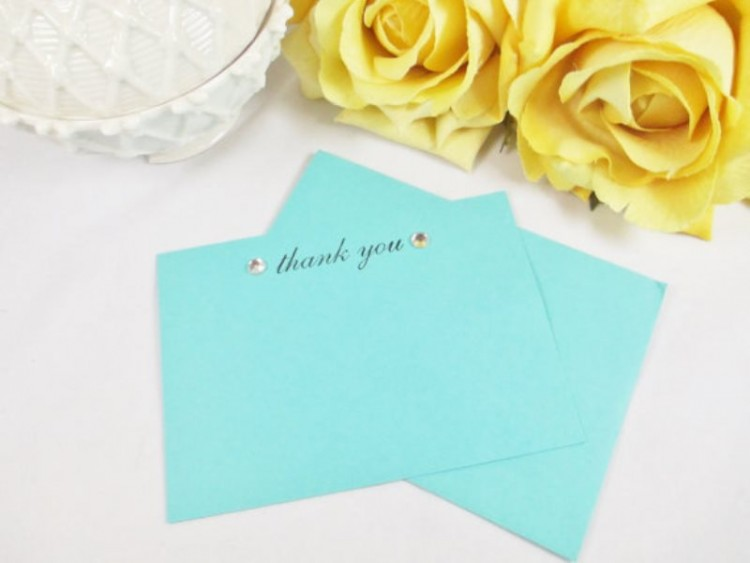 take tiffany blue cards to say thank you to your friends