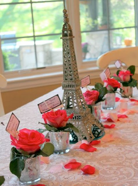 Paris themed wedding shower ideas bridal shower themes showers here are chic parisian themed bridal shower ideas from junglespirit Images