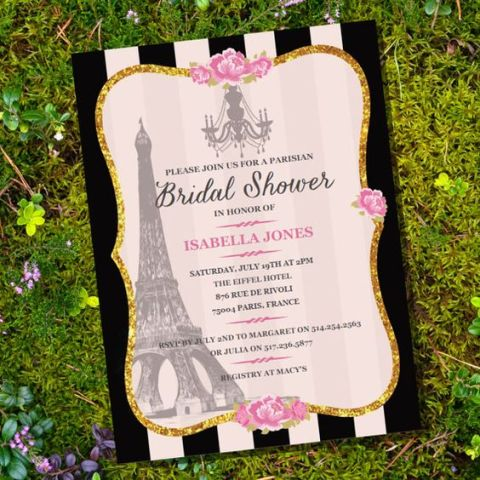 Chic Parisian Themed Bridal Shower Ideas