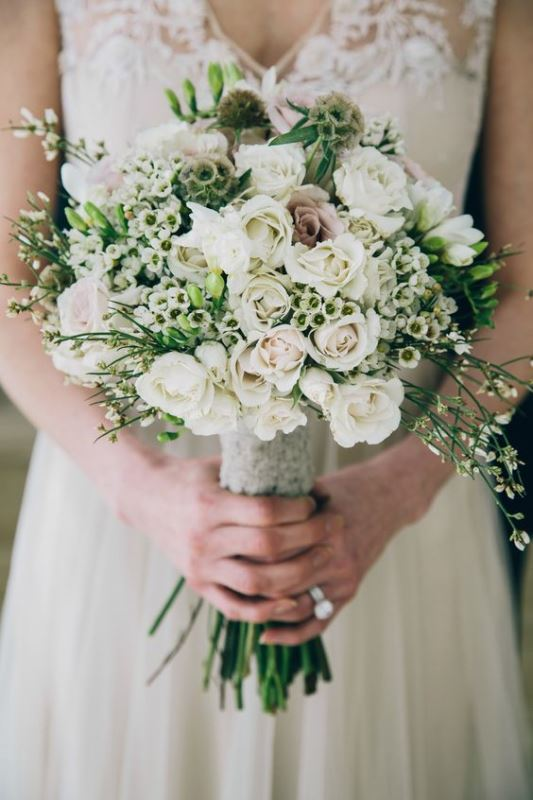 Innocently Beautiful White Bridal Bouquets