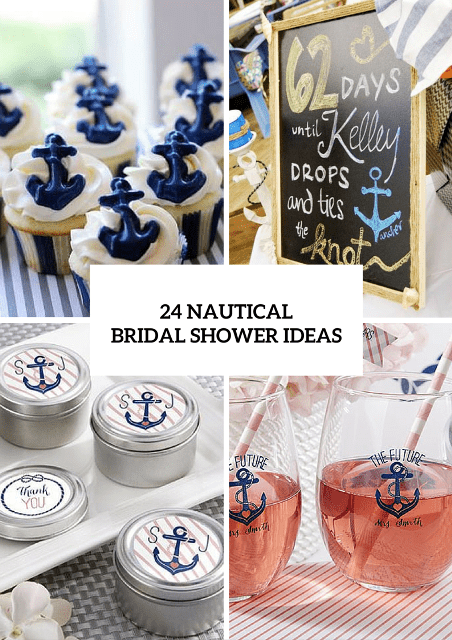 24 chic nautical themed bridal shower ideas weddingomania chic nautical themed bridal shower ideas junglespirit Images