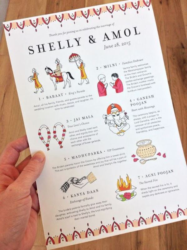 25 beautiful and fun wedding programs to get inspired