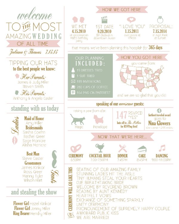 Picture Of Beautiful And Fun Wedding Programs To Get Inspired 18