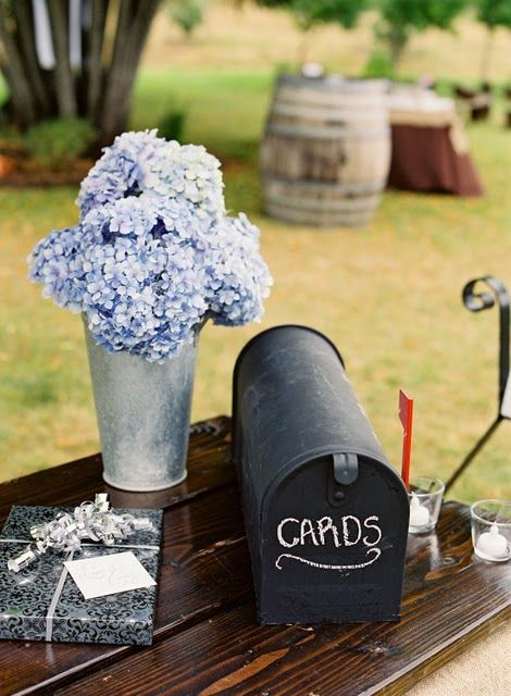a simple chalkboard mailbox with a red flag - you can chalk anything you want on it