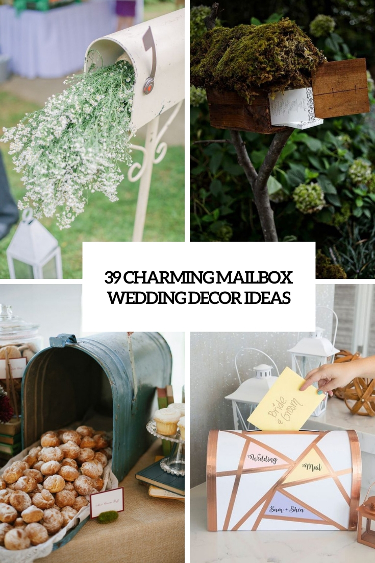 39 Charming Mailbox Wedding Décor Ideas