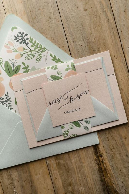 Fun And Pretty Wedding Envelope Liners