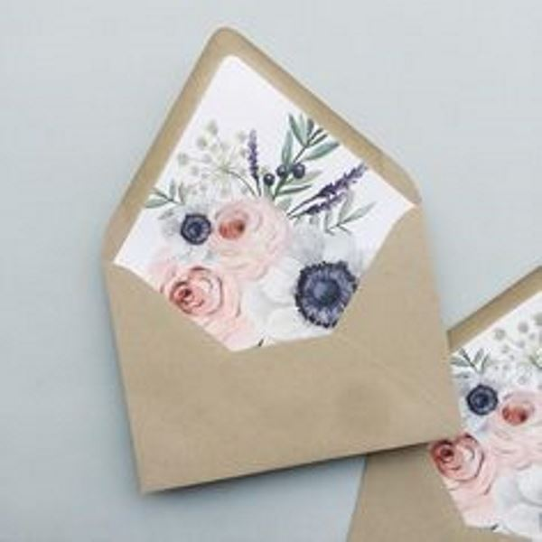 31 fun and pretty wedding envelope liners weddingomania