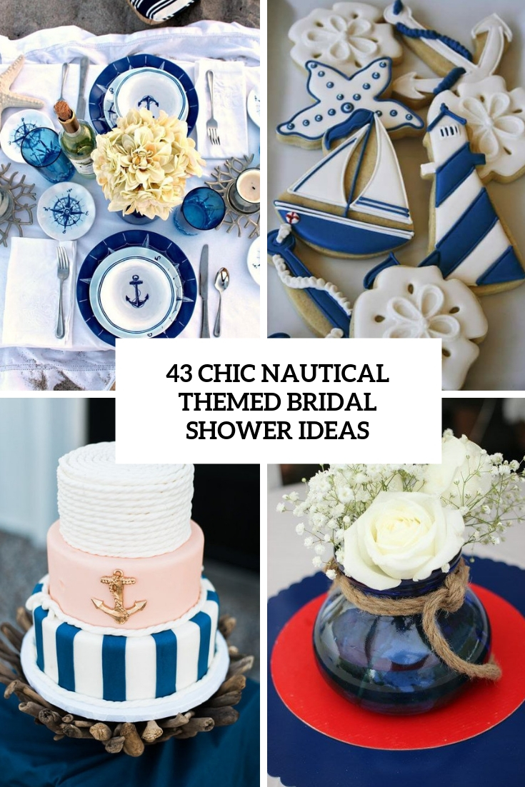 chic nautical themed bridal shower ideas cover