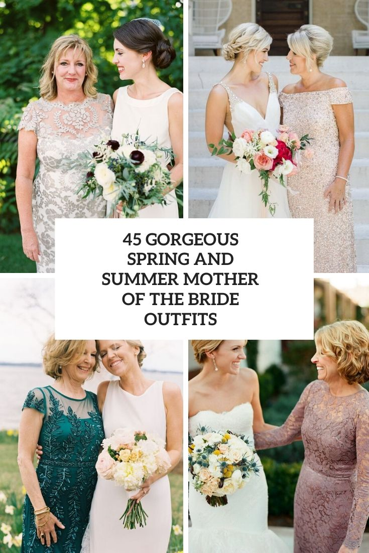 gorgeous spring and summer mother of the bride outfits cover