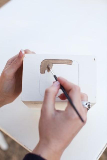 Cool DIY Metallic Chalkboard Table Number
