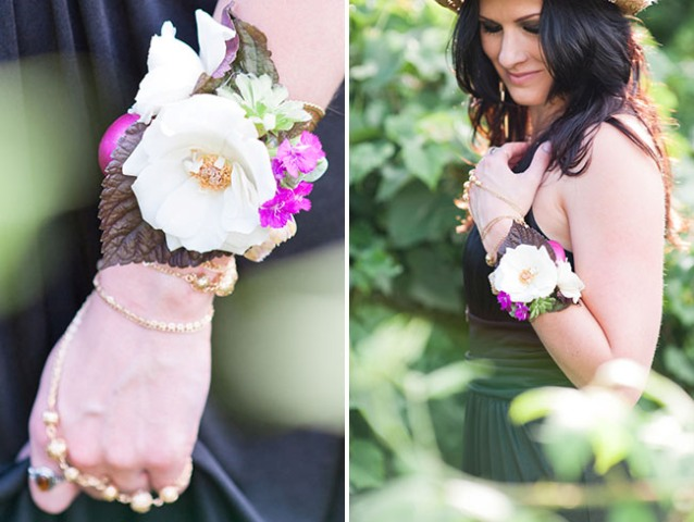 DIY Boho Flower Bracelets For Bridesmaids