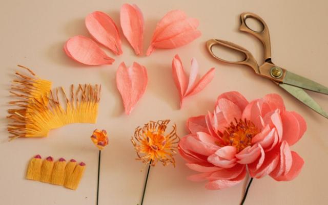 Gentle DIY Paper Flower Bouquet For Your Wedding