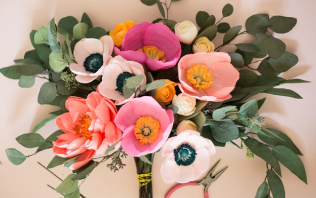 Gentle DIY Paper Flower Bouquet For Your Wedding
