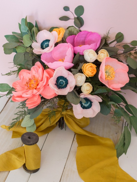 Gentle Diy Paper Flower Bouquet For Your Wedding Weddingomania