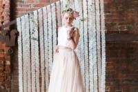 Graceful DIY Papel Picado Wedding Backdrop
