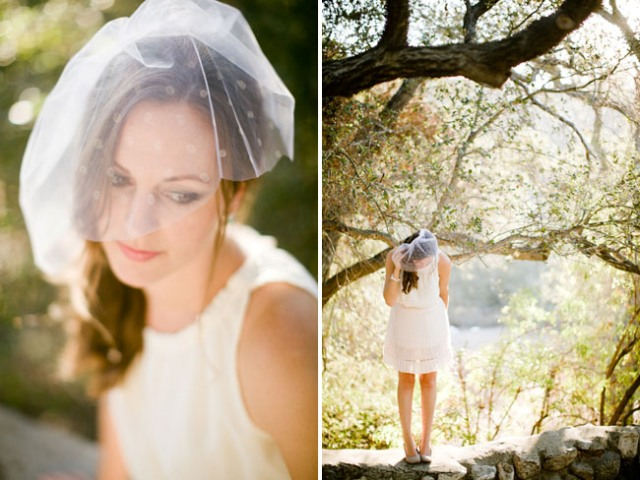 Graceful Short DIY Polka Dot Veil