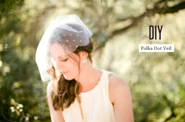 Graceful DIY Polka Dot Veil