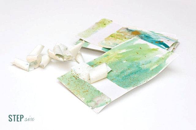 Original DIY Watercolor Wash Place Cards