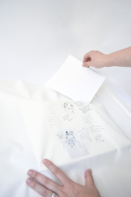 Touching DIY Guestbook Ring Pillow