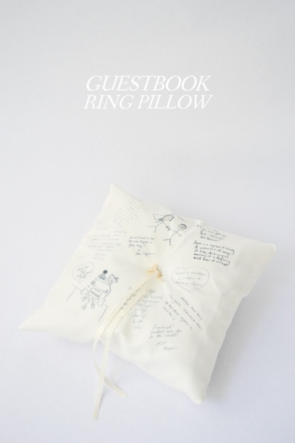 Touching DIY Guestbook Ring Pillow
