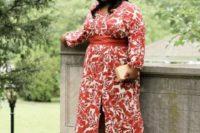 a plus size mother of a bride outfit idea