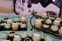 breakfast at Tiffany's inspired cupcakes are a very cute idea for your dessert table