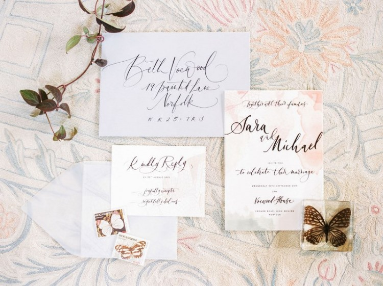 Butterfly Themed Spring Garden Wedding Shoot