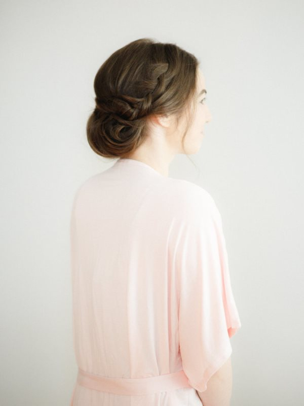 Charming DIY Wedding Braided Chignon Hairstyle