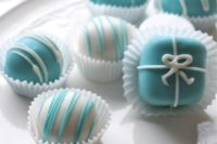 chocolate styled for a breakfast at Tiffany's bridal shower