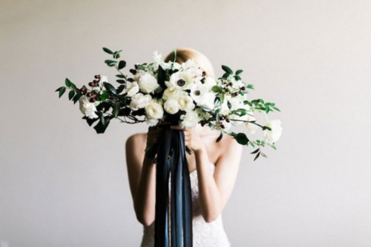 Classic Yet Edgy Black & White Wedding Shoot