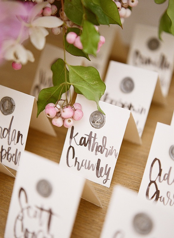 Classy DIY Wax Seal Wedding Escort Cards