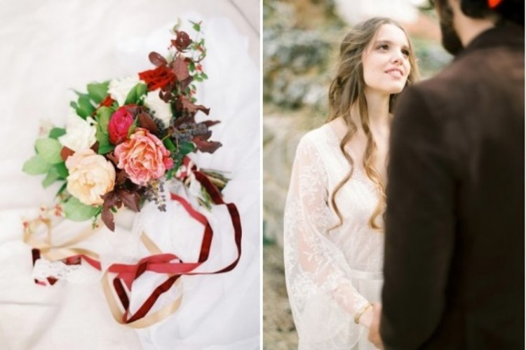 Creative And Romantic Berry Toned Wedding Inspiration