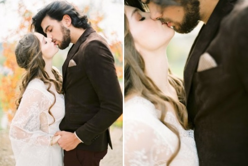 Picture Of creative and romantic berry toned wedding inspiration  11