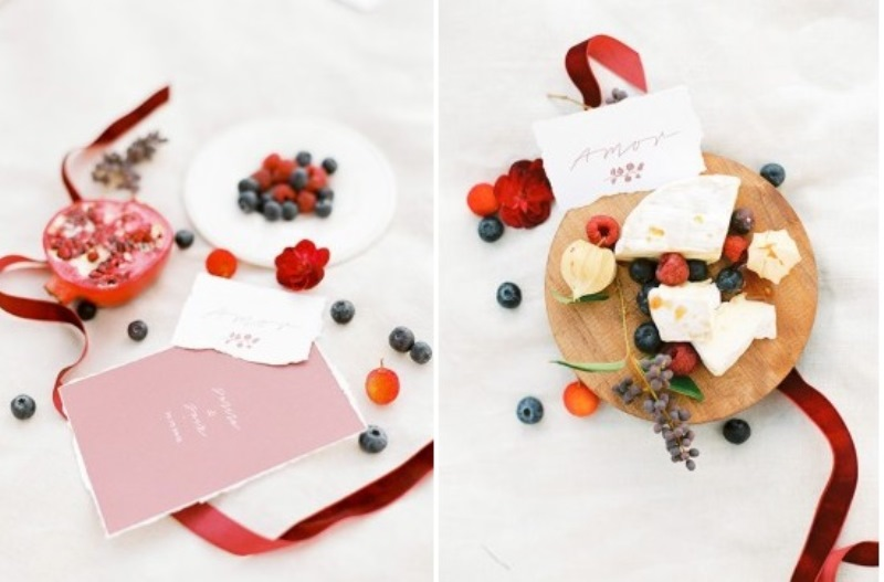 Picture Of creative and romantic berry toned wedding inspiration  14