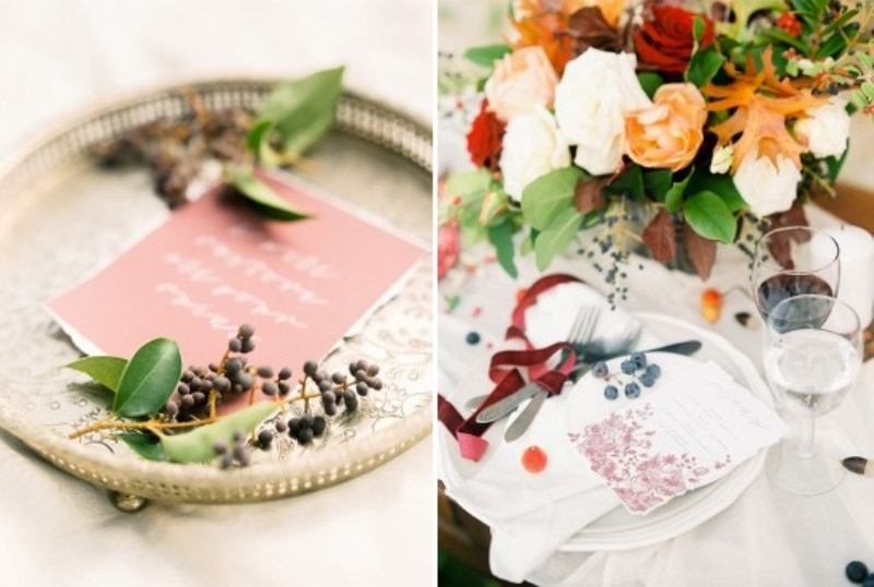 Picture Of creative and romantic berry toned wedding inspiration  15