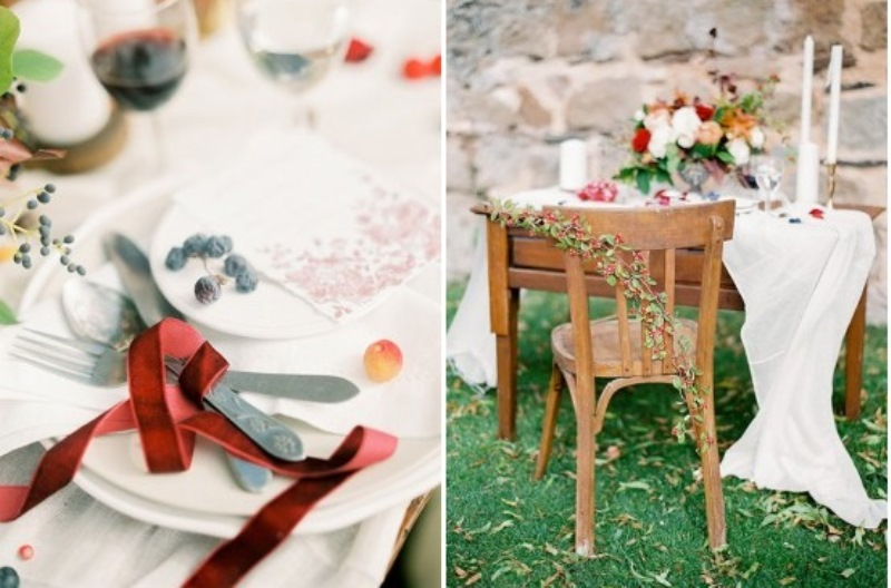 Picture Of creative and romantic berry toned wedding inspiration  16