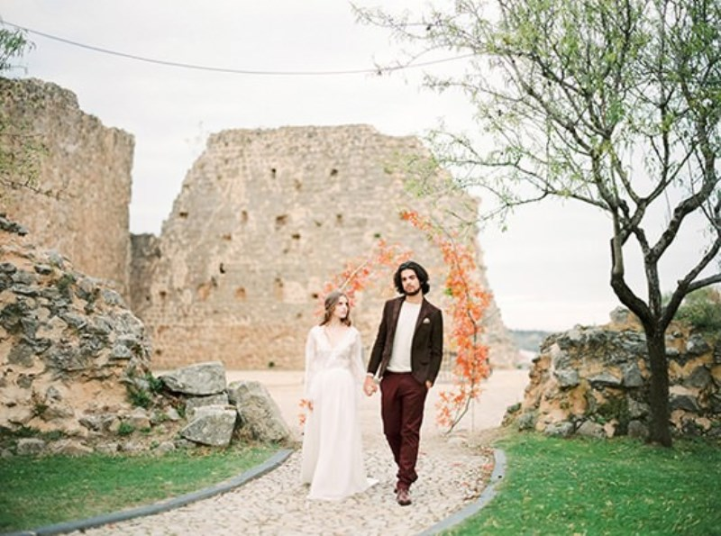 Picture Of creative and romantic berry toned wedding inspiration  21