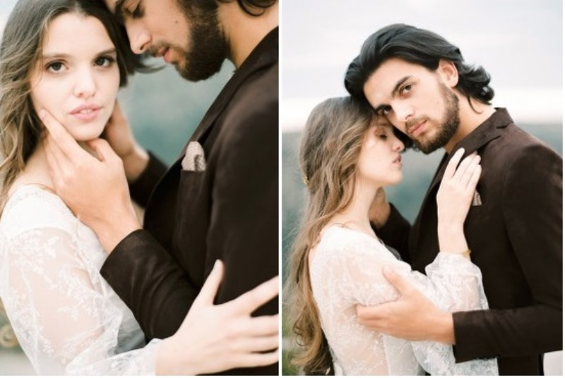 Picture Of creative and romantic berry toned wedding inspiration  22
