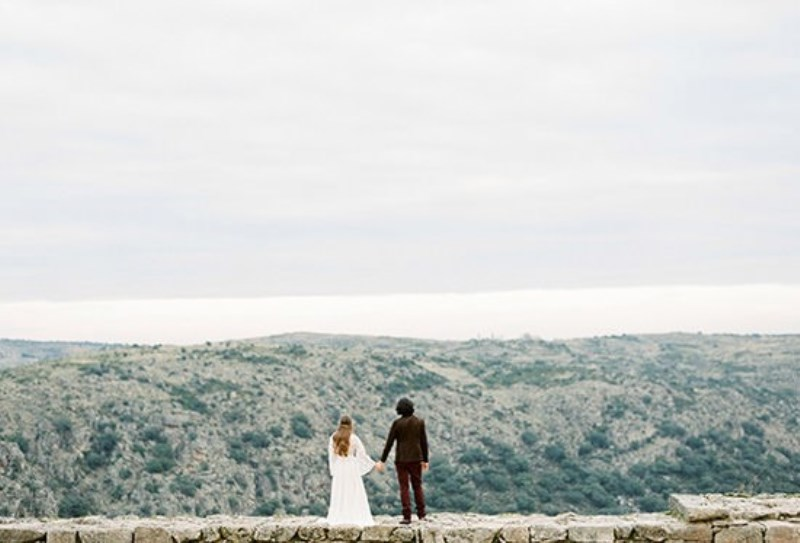 Picture Of creative and romantic berry toned wedding inspiration  23