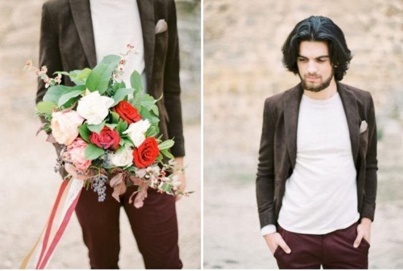 Picture Of creative and romantic berry toned wedding inspiration  5