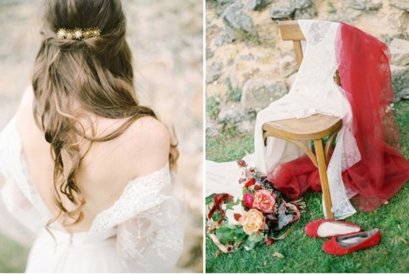 Picture Of creative and romantic berry toned wedding inspiration  9
