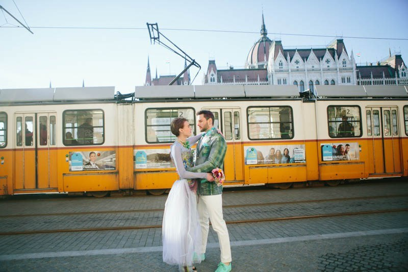 Picture Of eccentric and unique engagement shoot at budapest  11