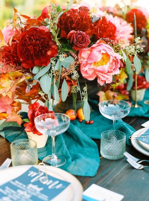 Picture Of fall jewel toned rustic ranch wedding inspiration  12