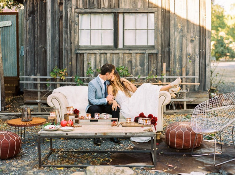 Picture Of fall jewel toned rustic ranch wedding inspiration  14