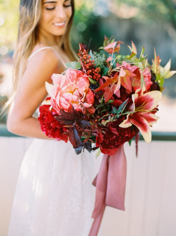 Picture Of fall jewel toned rustic ranch wedding inspiration  2
