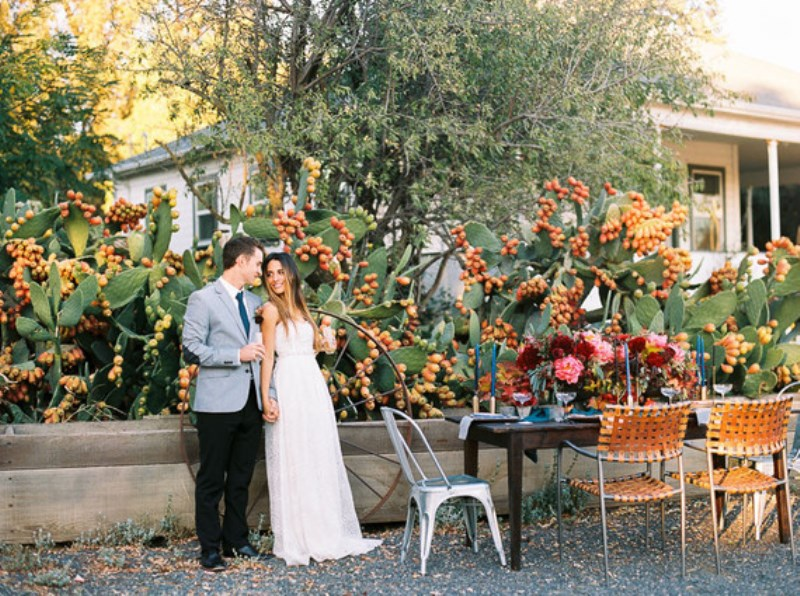 Picture Of fall jewel toned rustic ranch wedding inspiration  8