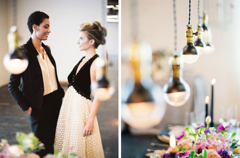 Picture Of fashionable industrial wedding inspiration  27