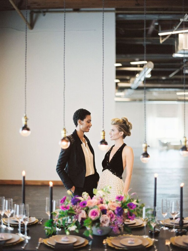Fashionable Industrial Wedding Inspiration