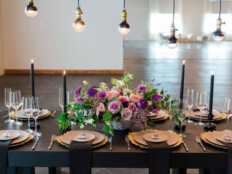 Picture Of fashionable industrial wedding inspiration  6